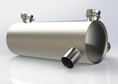 Bottom-outlet muffler (1.7 kg)