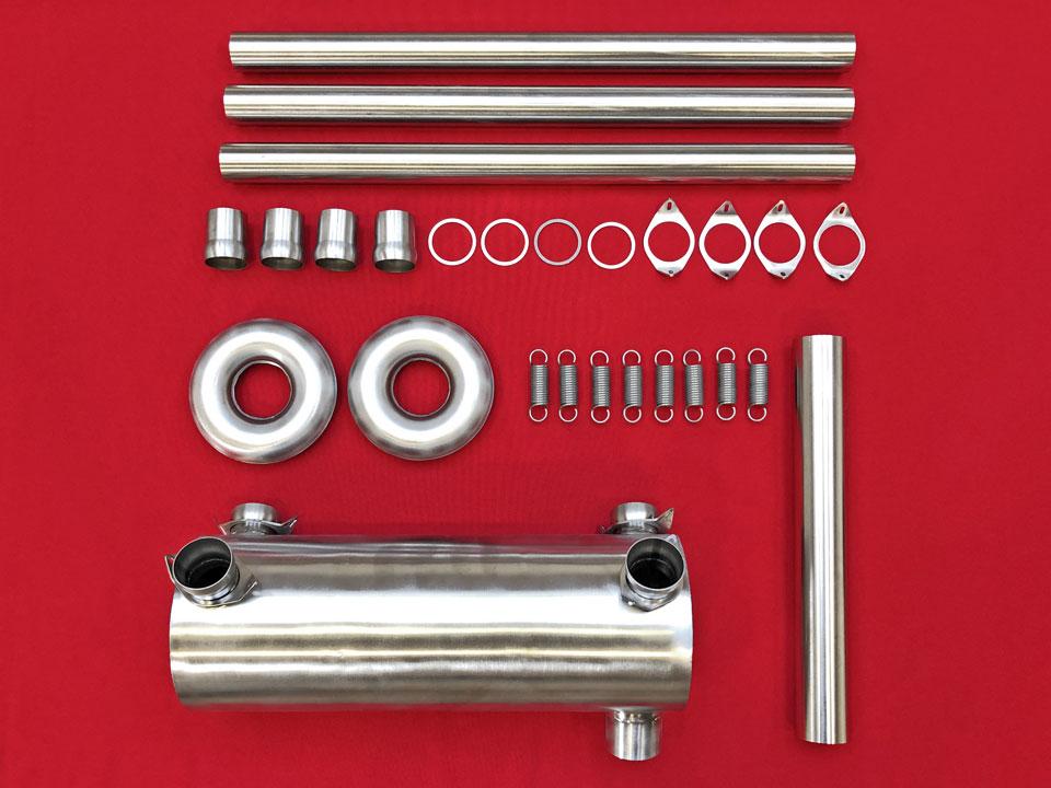 Exhaust kit: Bottom-outlet muffler