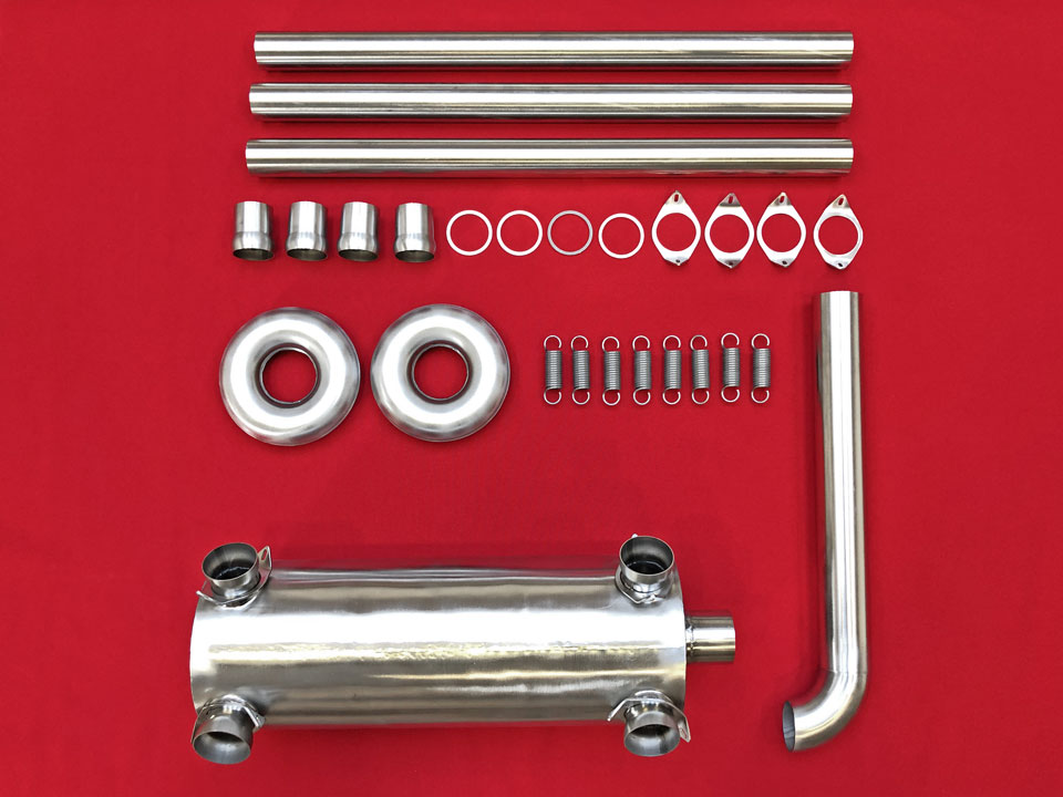 Exhaust kit: Side-outlet muffler